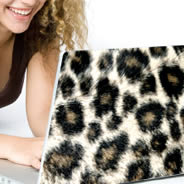 Leopard laptop decals skin