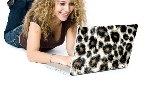 Leopard laptop decals skin