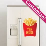 French Fries Decals Fridge Skins