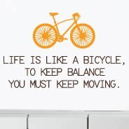 Bicolor Bicycle quote wall decal