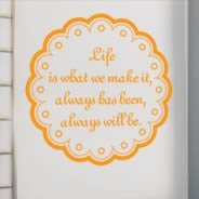 Life Is wall quote sticker