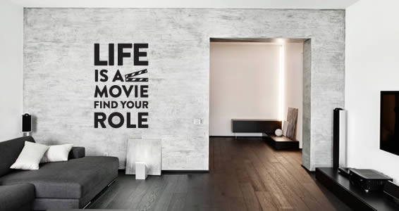 Life Movie quote wall decals