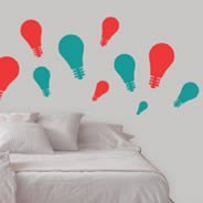 Bicolor Light Bulb pack decal