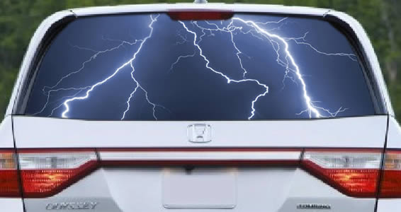 Lightning See Through Car Window Decals Dezign With A Z