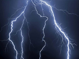Lightning see through car window decals