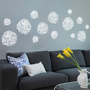 Line Rose pack wall decals