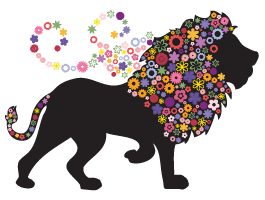 Lion In Bloom decal