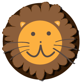 Lion Decal wall clock (mechanism included)