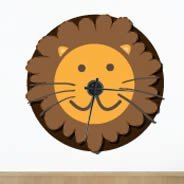 Lion clock wall decal