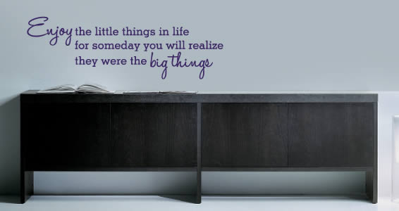 Little Things quote decals