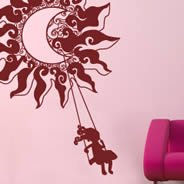 Little Luna princess wall decals