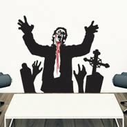 Living Dead Zombie decal