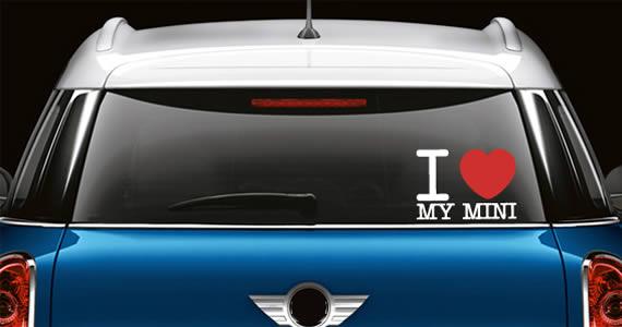 I LOVE... Custom Text Car Decals