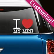 I LOVE... Custom Text Car Decals