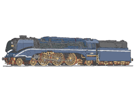 Locomotive Train wall decals