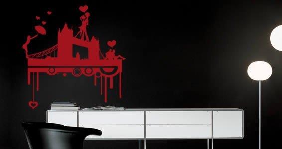 Love in London wall stencils