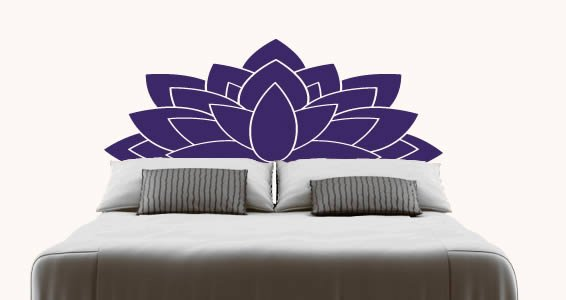 Lotus Headboard Wall Decal