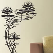 My Lotus asian wall decals
