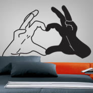 Love Hands vinyl cut outs for walls