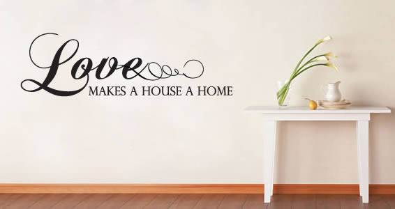 Love Home quote decals