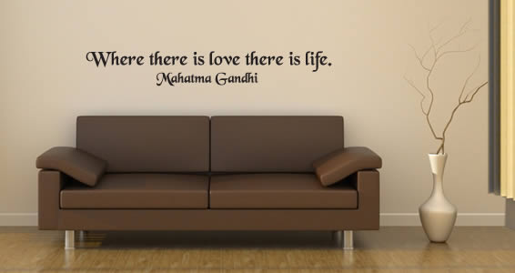 Love is Life quote decals