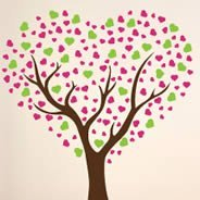 Love Tree vinyl wall decals