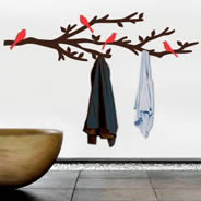 Branch coat rack wall decal