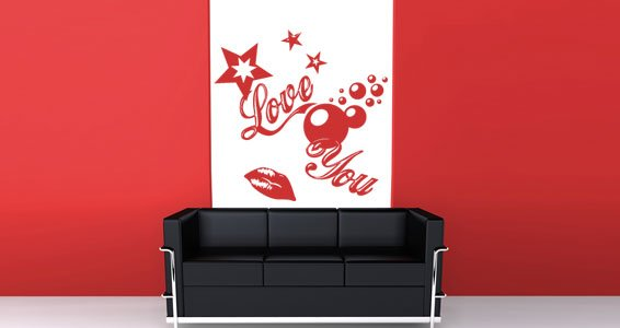 Love You vinyl wall decals