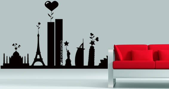 Love Your World by RQR wall clings