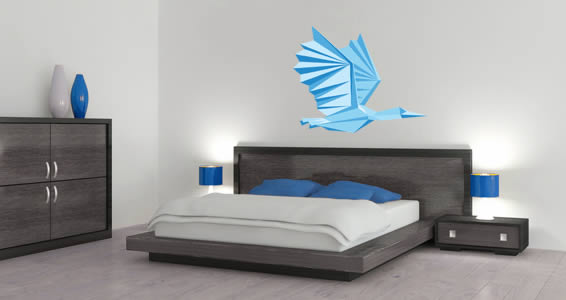 Paper Bird wall decals