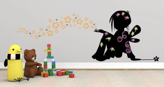 Magic Children blackboard and vinyl wall decals