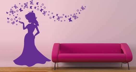 Magic Princess wall decals