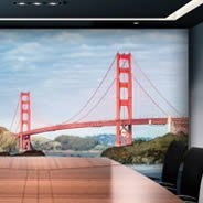 Magnificent Golden Bridge wall mural