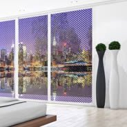 New York City Skyline see through window decals