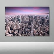 Manhattan City Sunset wall canvas