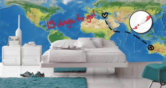 Dry erase decal world map dezign with a z dry erase decal world map gumiabroncs Choice Image