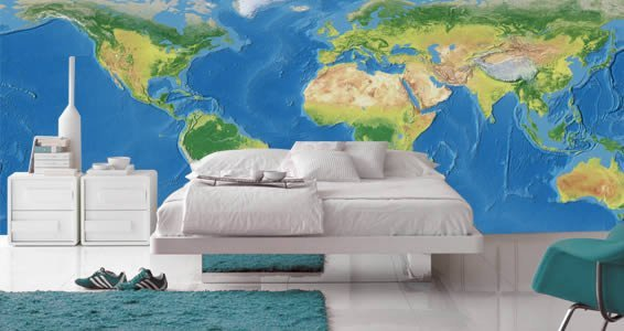 World map dry erase furniture skin wall decals dezign for Dry erase world map wall mural
