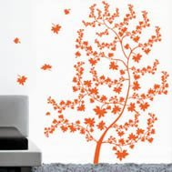 Maple tree wall decals