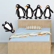 Penguins wall decals