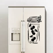 Cherry Pot Decals Fridge Skins