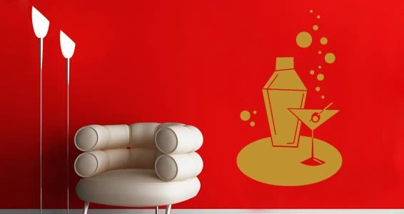 My Martini Shaker wall decals