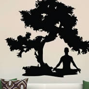 Meditation zen wall decals