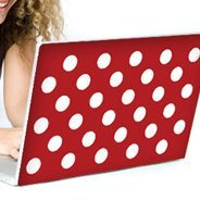 Mega Dots laptop decals skin