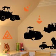 Men at Work wall decals