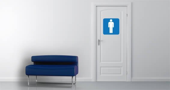 Men Sign Restroom decals