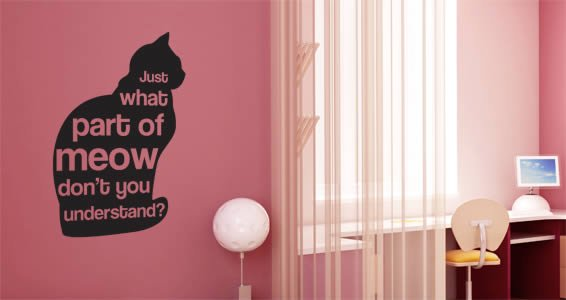 Meow wall quote decals