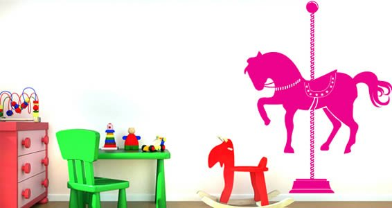 Merry Go Round wall stickers
