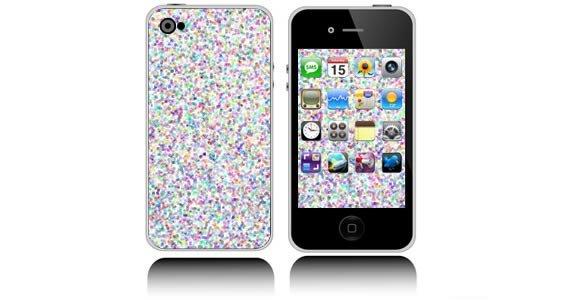 Metal Flake iPhone decals skin