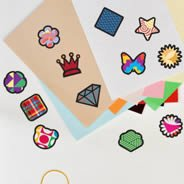 Mini Colorful Shapes Wall Decal Pack -set of 80