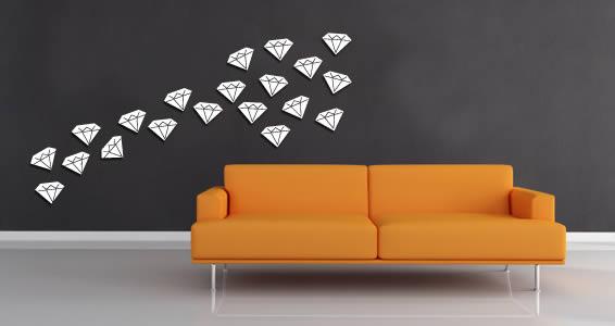 Mini Diamonds wall applique